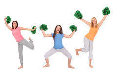 Three cheerleaders Royalty Free Stock Images