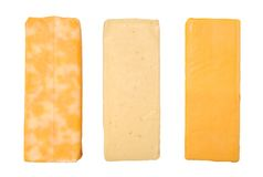 Three Cheese bars Stock Photography