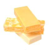 Three Cheese bars Royalty Free Stock Images