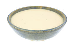 Three Cheese Soup Ceramic Bowl Royalty Free Stock Photography