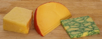 Three cheeses 1 Royalty Free Stock Photos