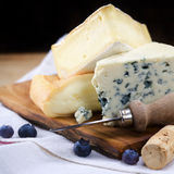 Three cheeses Royalty Free Stock Photography