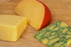 Three cheeses 2 Royalty Free Stock Photography