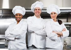 Three chefs.  stock images