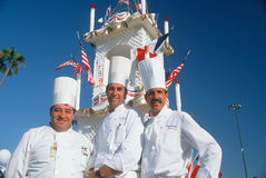 Three chefs at the French Revolution Bicentennial Stock Images