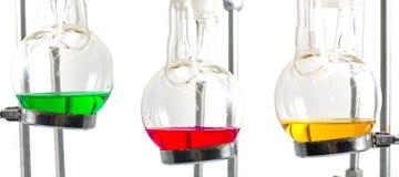 Three chemistry experiment Stock Photo