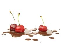 Cherries and Chocolate Royalty Free Stock Image