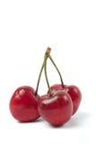 Three Cherries isolated on white background Stock Photo