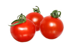Three cherry tomato Royalty Free Stock Photography