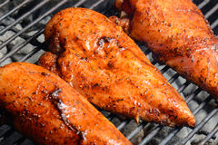 Three Chicken Breasts on the Grill Stock Photography