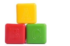 Three child brick Stock Images
