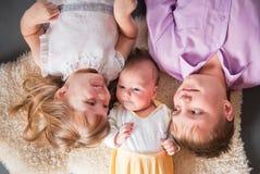 Three children stock image