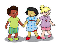 Three children Stock Images