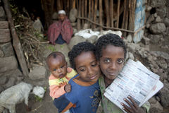 Three children,  Ethiopia Royalty Free Stock Photography