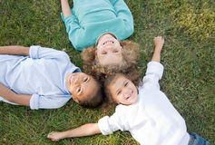 Three Children Having Fun Stock Images