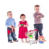 Three children play Stock Image