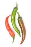 Three chili peppers Royalty Free Stock Photography
