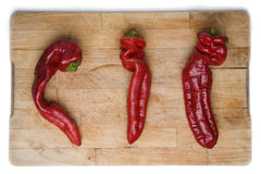 Three Chilis Royalty Free Stock Images