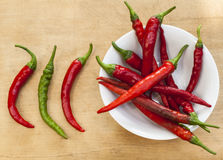 Three Chilis Royalty Free Stock Photos