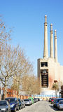 He three chimneys of the old power plant Royalty Free Stock Photo