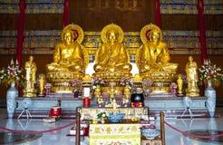 Three Chinese Buddha statues Royalty Free Stock Photo