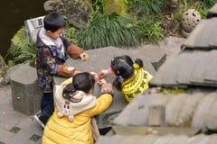 Three Chinese children Royalty Free Stock Image