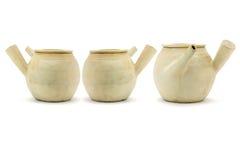 Three Chinese clay pots Stock Image