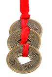 Three Chinese coins. Royalty Free Stock Images