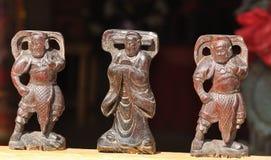 Three chinese gods Stock Images
