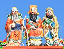 Three chinese gods Stock Photos