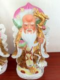 Three Chinese lucky gods Good Fortune Fu,Hok, Prosperity Lu,Lok, and Longevity Shou,Siu. Statue royalty free stock photo