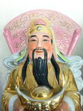 Three Chinese lucky gods Good Fortune Fu,Hok, Prosperity Lu,Lok, and Longevity Shou,Siu. Statue stock photo