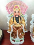 Three Chinese lucky gods Good Fortune Fu,Hok, Prosperity Lu,Lok, and Longevity Shou,Siu. Statue stock photography