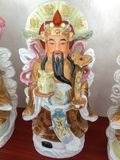 Three Chinese lucky gods Good Fortune Fu,Hok, Prosperity Lu,Lok, and Longevity Shou,Siu. Statue royalty free stock photos