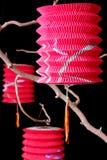Three Chinese Paper Lanterns Stock Images