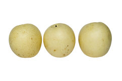 Three chinese pear Royalty Free Stock Image