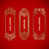Three Chinese vintage elements banner Stock Images
