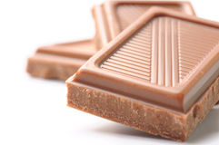 Three chocolate bars Stock Images