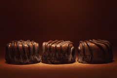 Three Chocolate Candies Stock Images