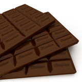 Three Chocolate Candy Bars Royalty Free Stock Photography