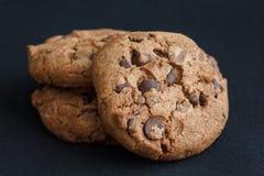 Three chocolate chip cookie Royalty Free Stock Photos