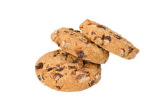 Three chocolate chip Stock Photography