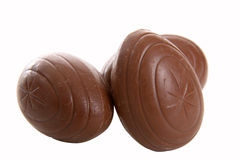 Three Chocolate Eggs stock photo