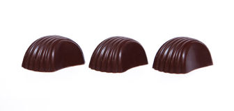 Three chokolate candies Royalty Free Stock Photography