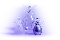 Three Christmas Angels Royalty Free Stock Image
