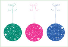 Three christmas ball Stock Photo