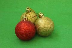 Three Christmas ball Royalty Free Stock Photography