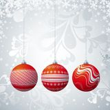 Three christmas  ball, vector Stock Image