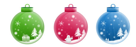 Three Christmas Balls Royalty Free Stock Photos