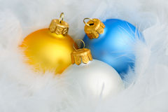 Three christmas balls Stock Image